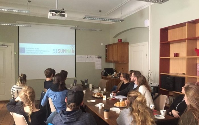 Students presented their video clips on migration and refugees in Europe and in Estonia